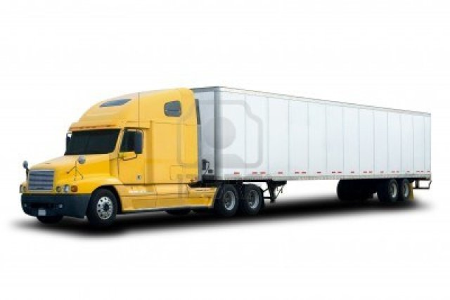 big-yellow-semi-truck-isolated-on-white
