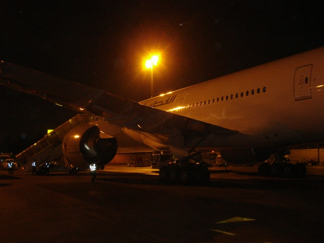 On The Tarmac in Doha, Qatar