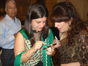 """Wired"" Women at Bombay Wedding Reception"