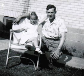 Deb and her Father, Laverne, Circa 1953