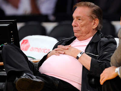 Donald Sterling Watching His Los Angeles Clippers