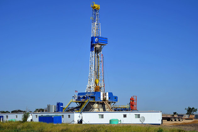 Large Fracking Rig in North Dakota