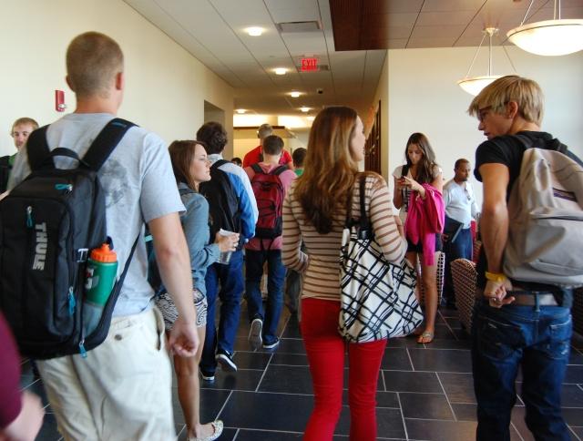 hallway students